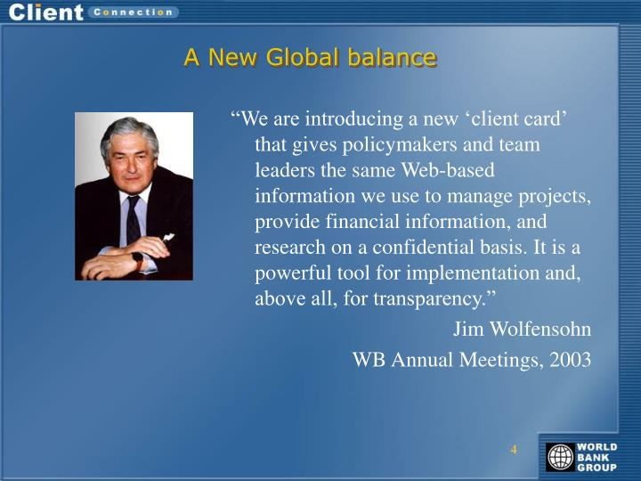 A New Global balance