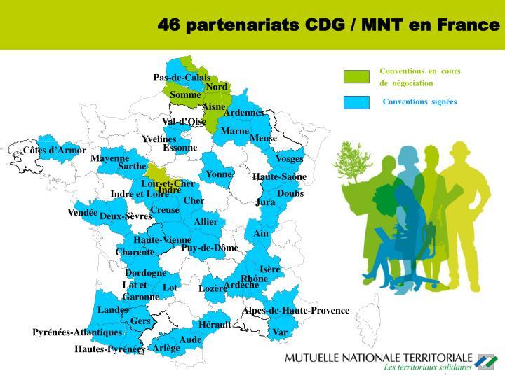 46 partenariats CDG / MNT en France