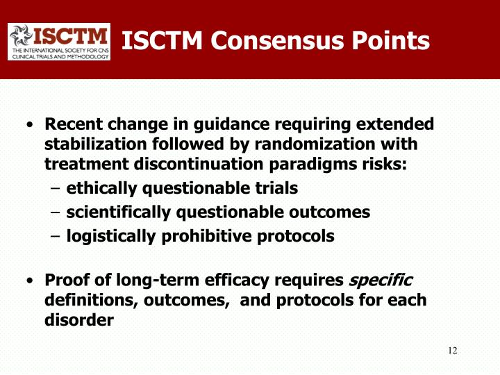 ISCTM Consensus Points