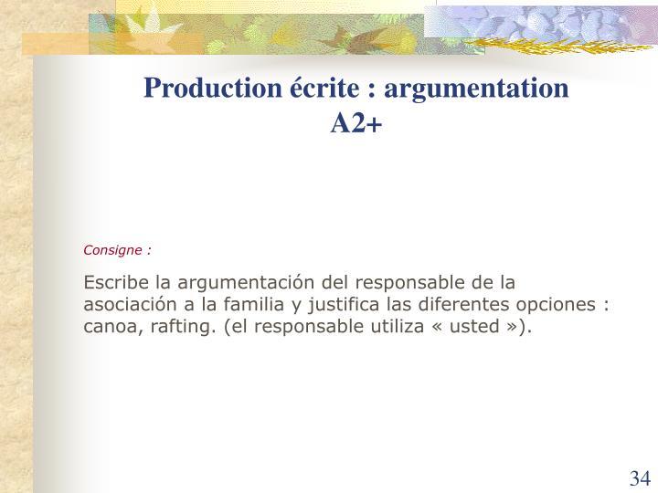 Production écrite : argumentation