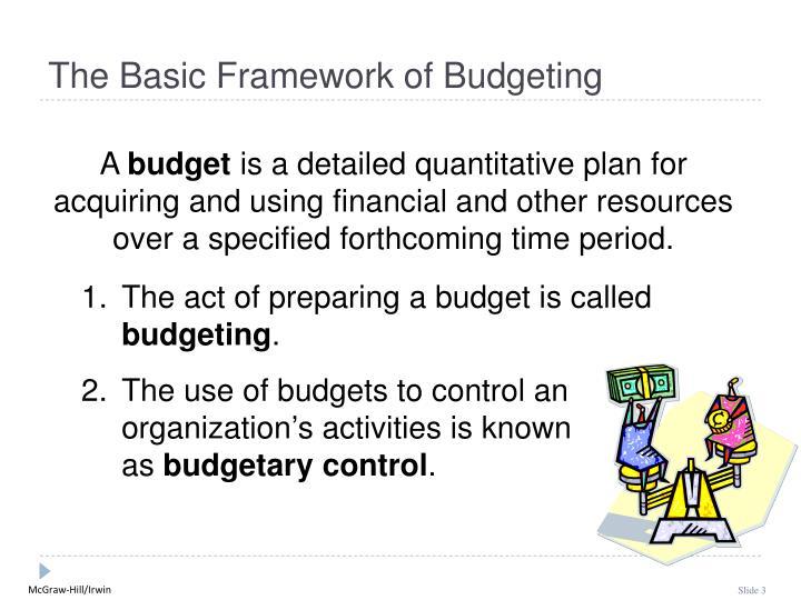 The Basic Framework of Budgeting