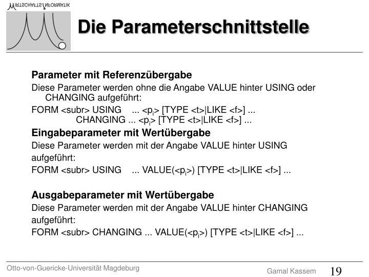 Parameter mit Referenzübergabe