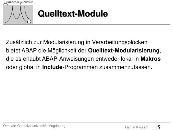 Zusätzlich zur Modularisierung in Verarbeitungsblöcken