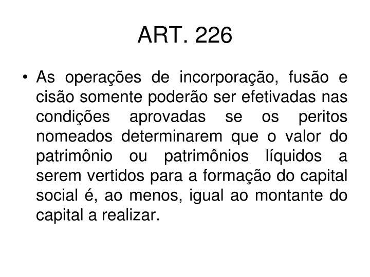 ART. 226