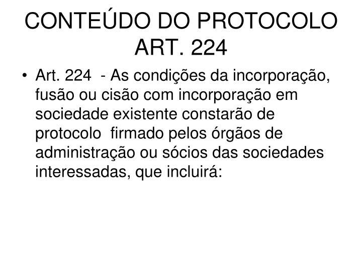 CONTEÚDO DO PROTOCOLO