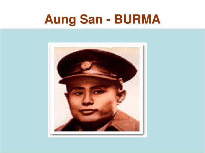 Aung San - BURMA