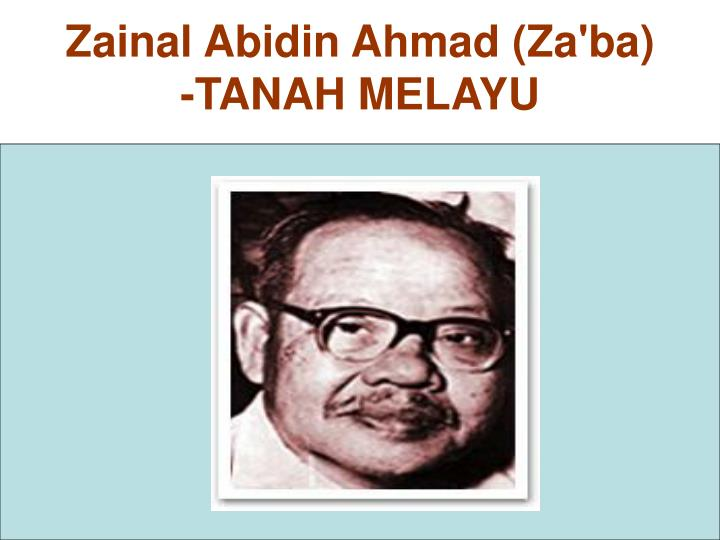 Zainal Abidin Ahmad (Za'ba)
