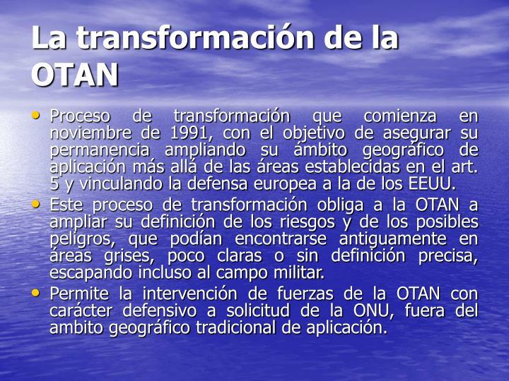 La transformación de la OTAN