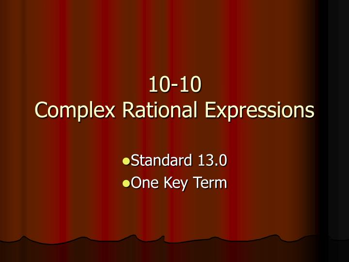 10 10 complex rational expressions