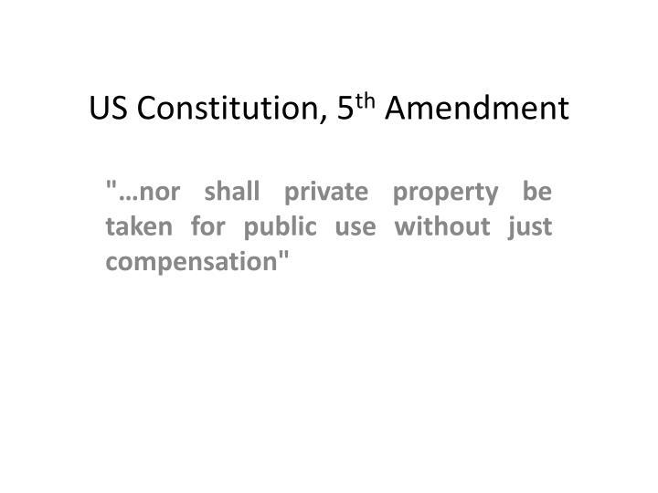 US Constitution, 5