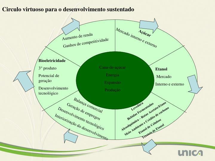 Circulo virtuoso para o desenvolvimento sustentado