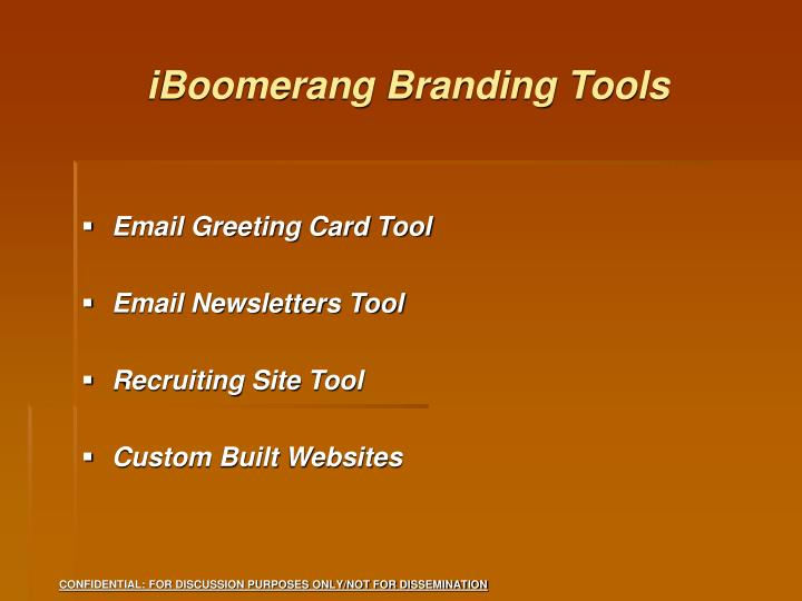 iBoomerang Branding Tools