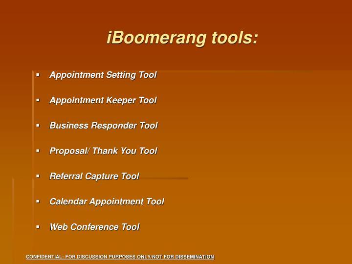 iBoomerang tools:
