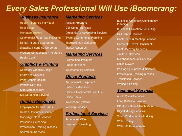 Every Sales Professional Will Use iBoomerang: