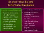 ex post versus ex ante performance evaluation2