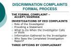 discrimination complaints formal process