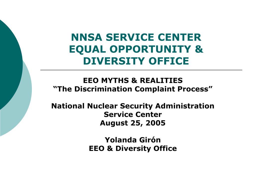 nnsa service center equal opportunity diversity office