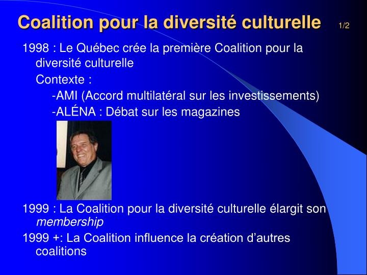 Coalition pour la diversité culturelle