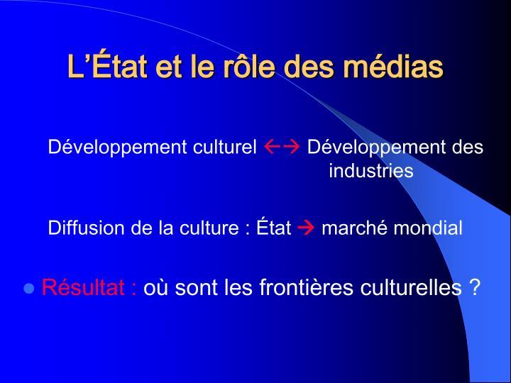 L'État et le rôle des médias