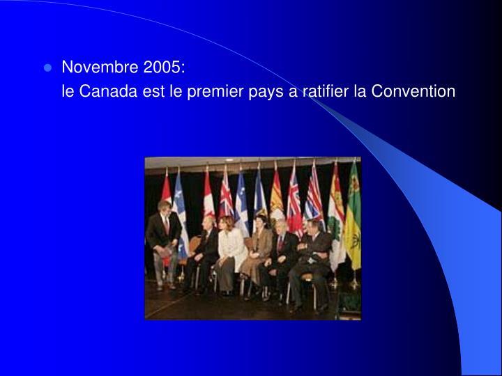 Novembre 2005: