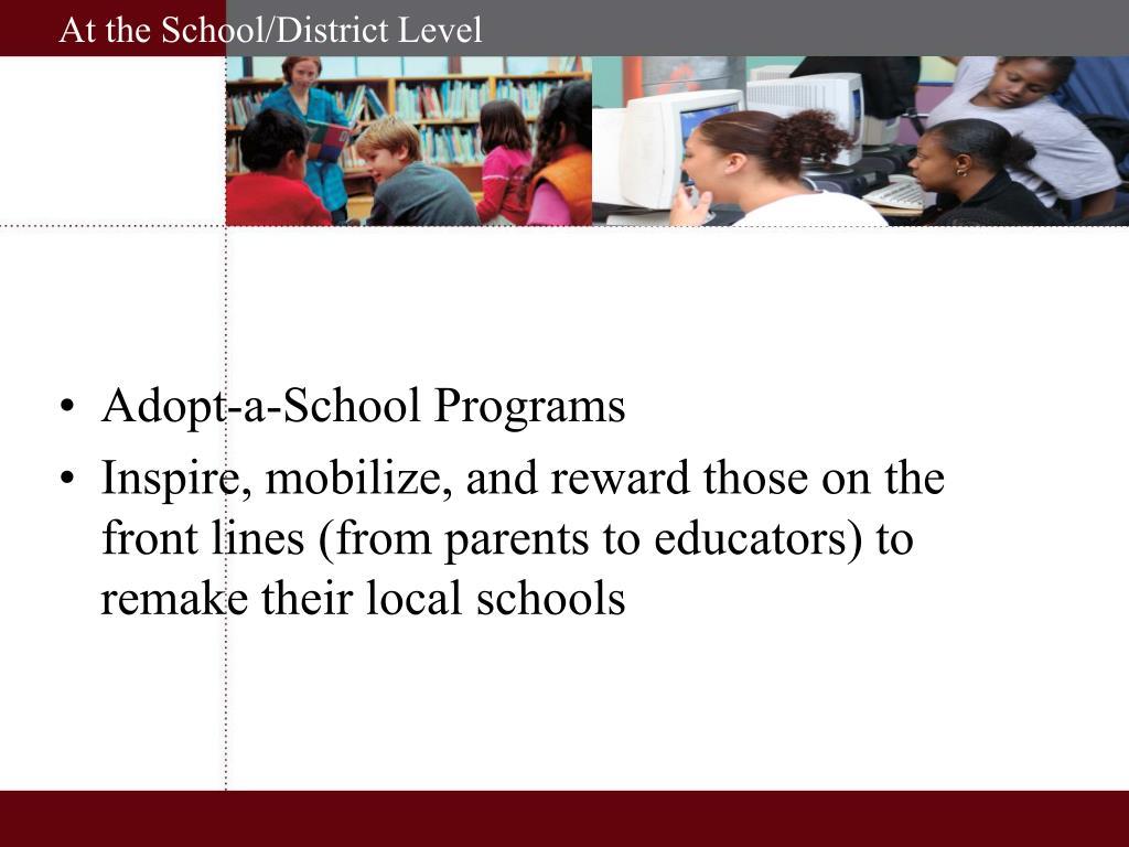 Adopt-a-School Programs