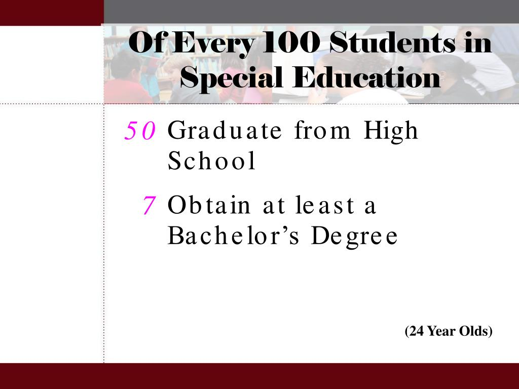 Of Every 100 Students in Special Education