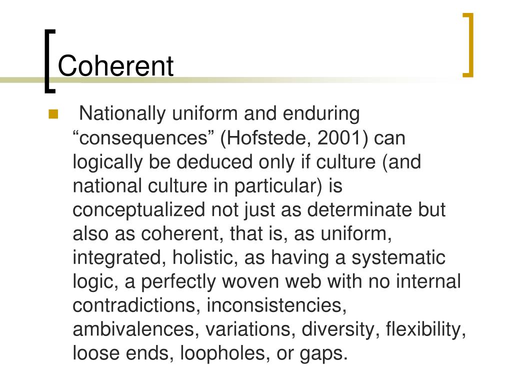 Coherent