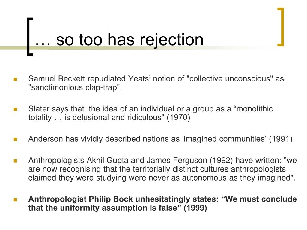 … so too has rejection
