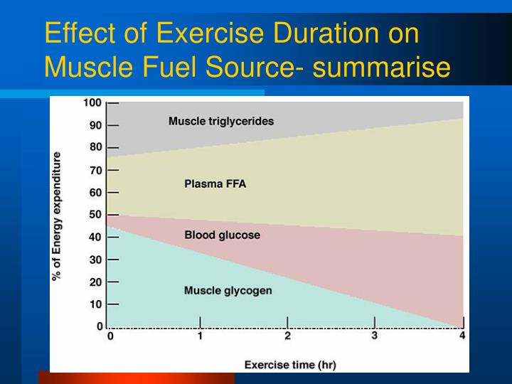 Effect of Exercise Duration on Muscle Fuel Source- summarise