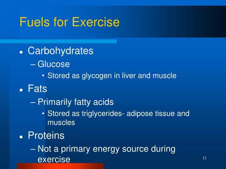 Fuels for Exercise