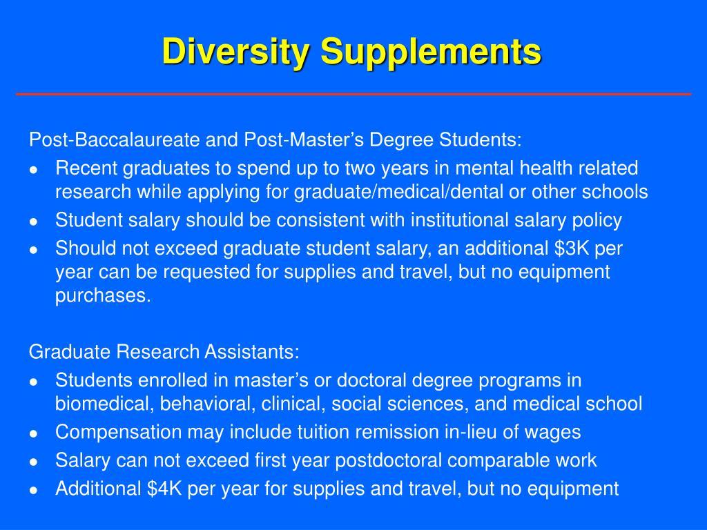 Diversity Supplements