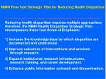 nimh five year strategic plan for reducing health disparities