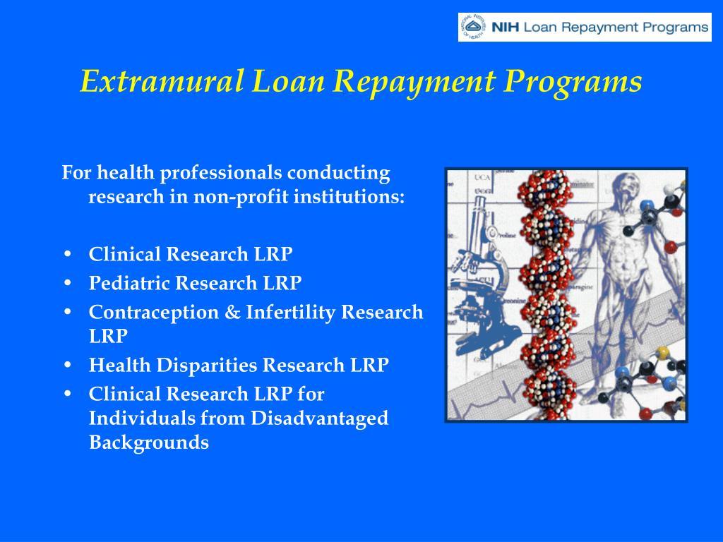Extramural Loan Repayment Programs