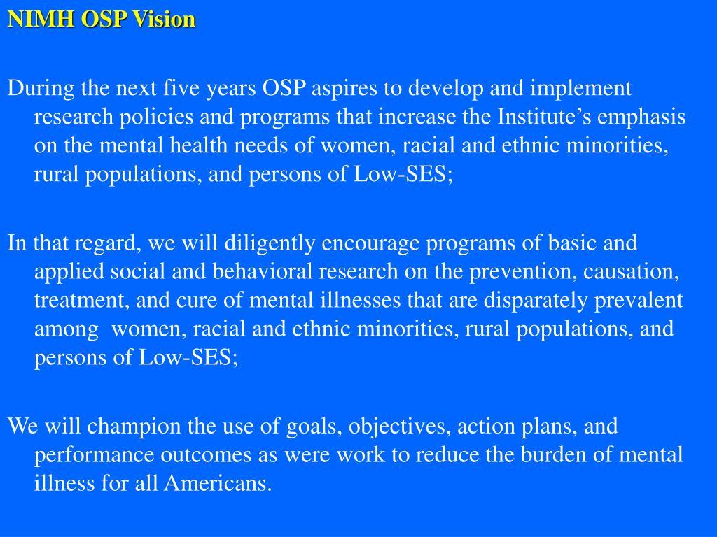 NIMH OSP Vision