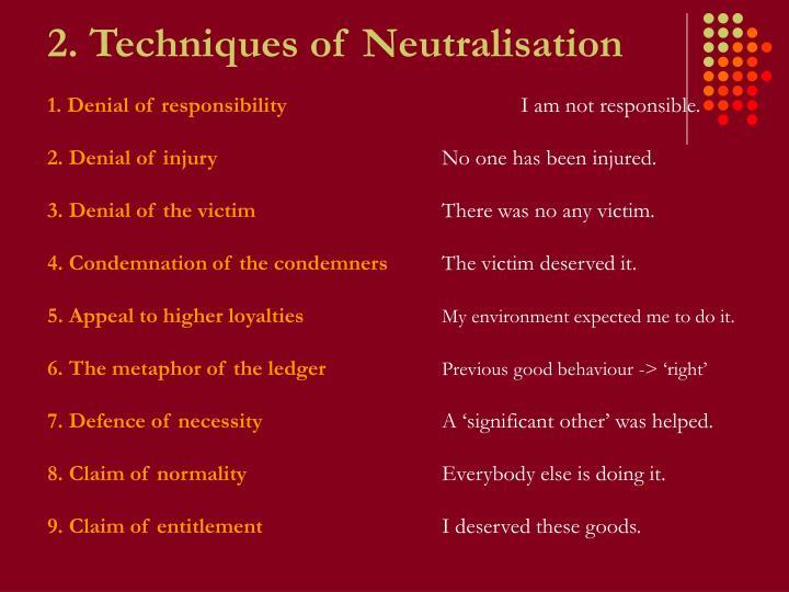 2. Techniques of Neutralisation