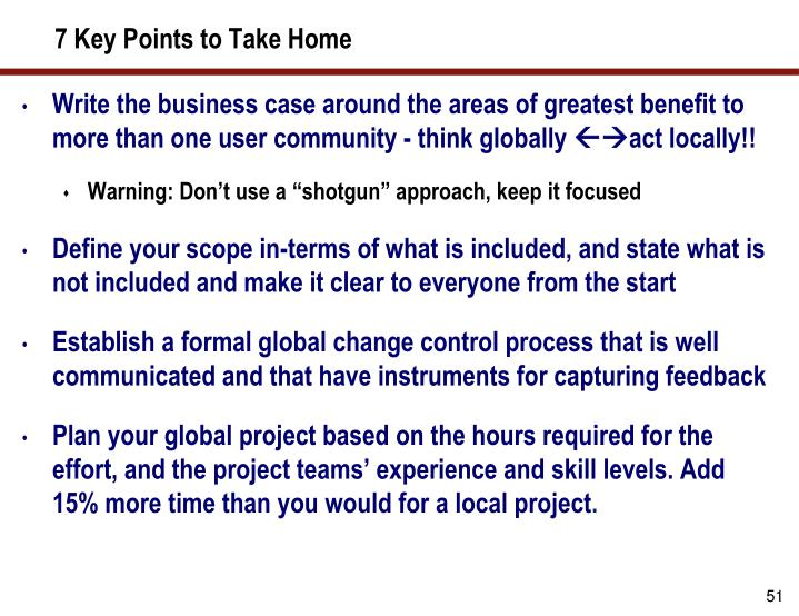 7 Key Points to Take Home