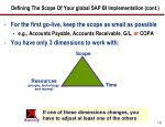 defining the scope of your global sap bi implementation cont