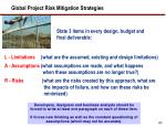 global project risk mitigation strategies