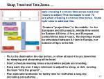 sleep travel and time zones