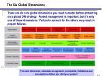 the six global dimensions