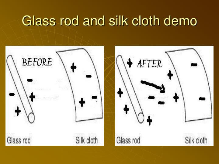 Glass rod and silk cloth demo