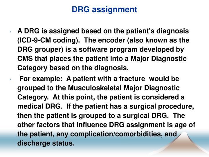 DRG assignment