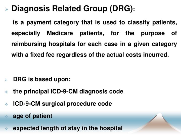 Diagnosis Related Group (DRG)