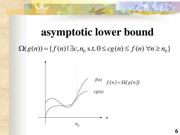 asymptotic lower bound
