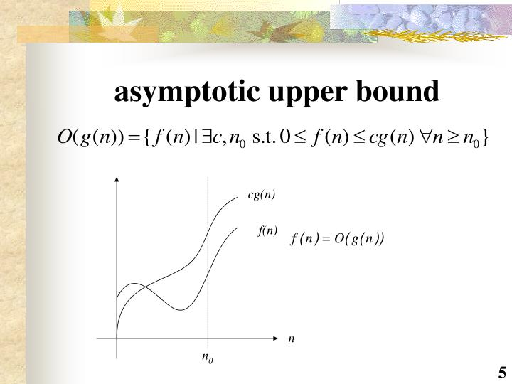 asymptotic upper bound