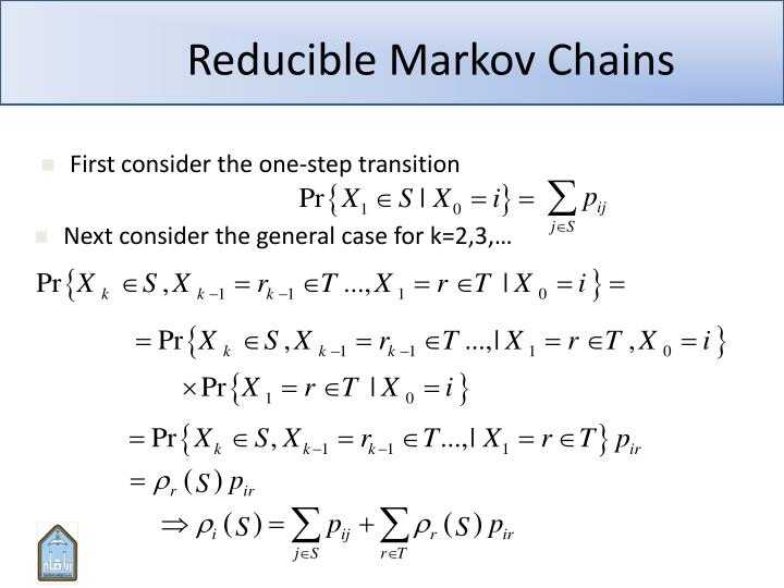 Reducible Markov Chains