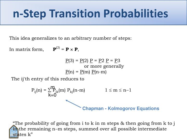 n-Step Transition Probabilities