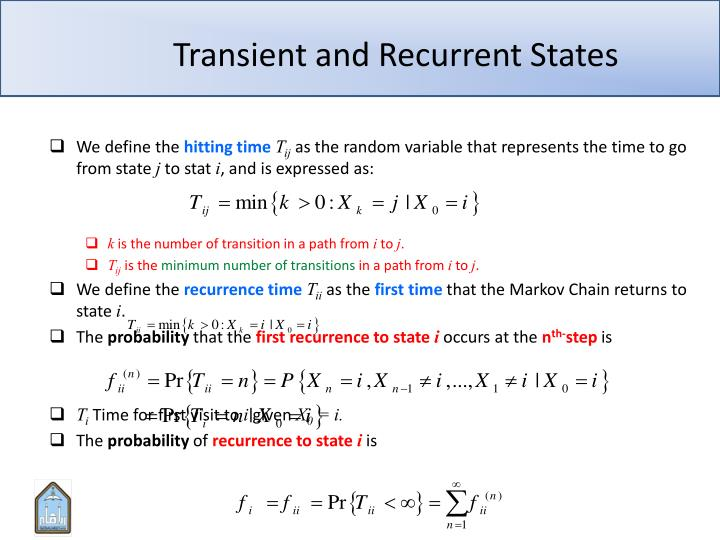 Transient and Recurrent States