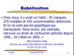 bab lisation