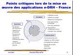 points critiques lors de la mise en uvre des applications e drh france